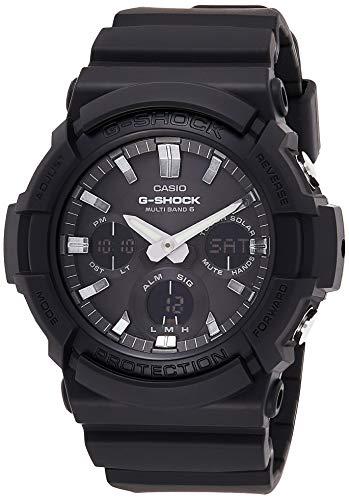Casio G-SHOCK Reloj Analógico-Digital, Reloj radiocontrolado y solar, 20 BAR, Negro, para Hombre, GAW-100B-1AER