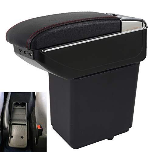 Apoyabrazos para Partner tepee Doble CapaRotativo Reposabrazos Caja Consolas Almacenamiento con portavasos Cenicero