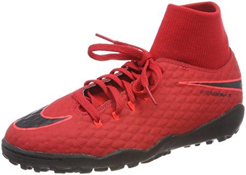 Nike Hypervenom X Phelon 3 DF TF JR 917775, Botas de fútbol, Color Rojo y Negro Brillante 616, 38 EU