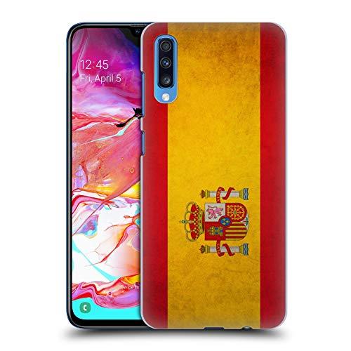 Head Case Designs Español De España Banderas Vintage Carcasa rígida Compatible con Samsung Galaxy A70 (2019)