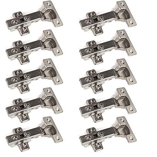 """10 x SO-TECH Bisagra """"T45"""" Cobertura Total con Amortiguador + Placa de Montaje (disponible como set de 10, 20 y 30!)"""