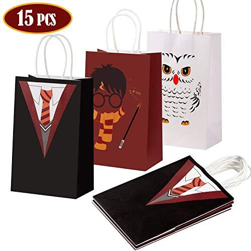 Tacobear 15 Piezas Mago Bolsa Regalo Wizard Bolsas Papel Bolsa Dulces para Niños Wizard Party Fiesta Artículos para cumpleaños