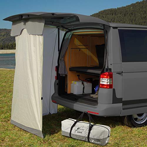 mocabu Carpa trasera de viaje compatible con VW T4, T5, T6, incluye kit de fijación, tienda de ducha, tienda de almacenamiento