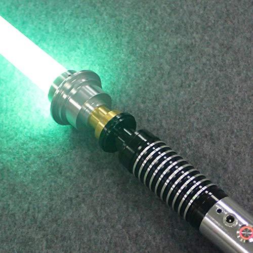 BoMan Lightsaber Metal Hilt Single Color FOC Blaster Wholesale Lightsaber Sable de luz de Duelo Skywalker, Regalo para niños y Adultos,Verde