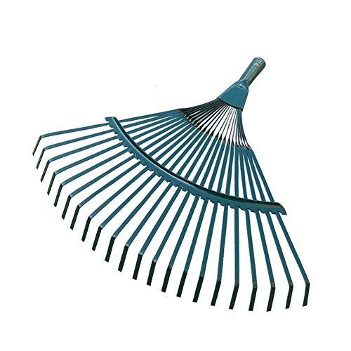 XINXI-YW Conveniente Arbusto Patio en Forma de Escoba no tóxico 22 Dentada portátil de Hoja caduca Césped Herramienta for el jardín de Alambre de Acero sin Olor Rake Cabeza Durable Decorativo