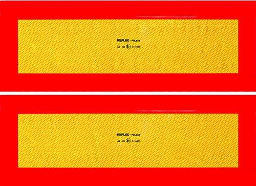 CORA 001890188 - Placas Reflectantes de vehículo Largo (homologados, 2 Unidades)