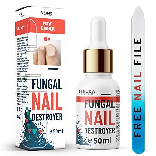 Prima Tratamiento de hongos para las uñas Fungal Nail Destroyer, Apto para Hongos Uñas Pies y Manos   Contiene Aceite del Arbol de Te y Aceite de Argán   30ml   Lima y Cepillo de Uñas Gratis.