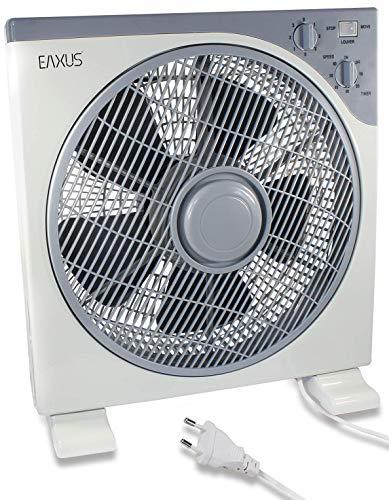 Eaxus Ventilador de mesa, potente caja de 40 W, con temporizador y 3 niveles de velocidad