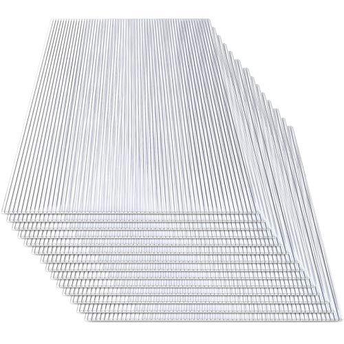Hengda - Planchas alveolares de cámaras huecas para invernadero de jardín, placas de repuesto de 14 x placas de policarbonato de doble puente (60,5 x 121 cm) 4 mm de 10,25 m2