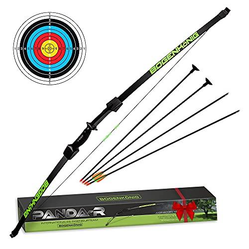 Bogenkönig Juego de arco y flecha para niños, jóvenes, curvado, tiro al blanco, 6,8 kg