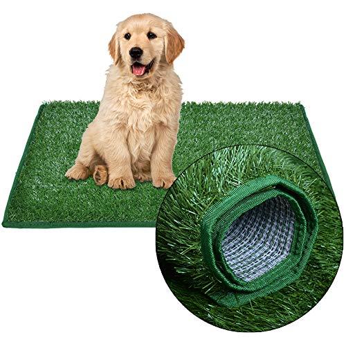 Césped artificial para perros, inodoro para cachorros, hierba, entrenamiento para el balcón, apartamento, césped, reutilizable, almohadillas Pee Pads para interiores y exteriores
