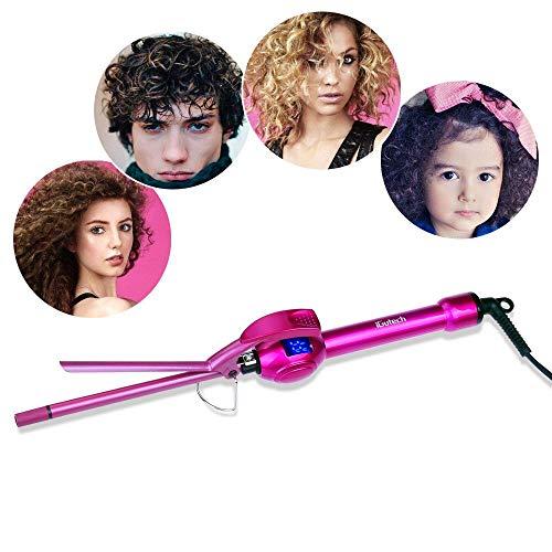 iGutech Rizador de Pelo,Tenacilla de pelo,tenazas para rizar el pelo,9mm de cerámica para el pelo