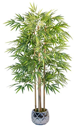 Maia Shop 1137 Bambú Cañas Naturales, Elaborados con los Mejores Materiales, Ideal para Decoración de hogar, Árbol, Planta Artificial (150 cm), Mixtos