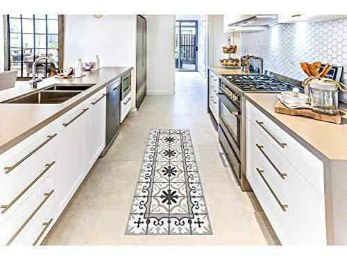 Oedim Alfombra Mosaicos Color Gris/Marrón para Habitaciones 2 PVC | 60 x 120 cm | Moqueta PVC | Suelo vinílico | Decoración del Hogar | Suelo Sintasol | Suelo de Protección |