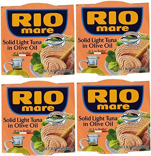 Rio Mare Atún claro sólido en aceite de oliva (paquete de 4 latas de 6 oz)