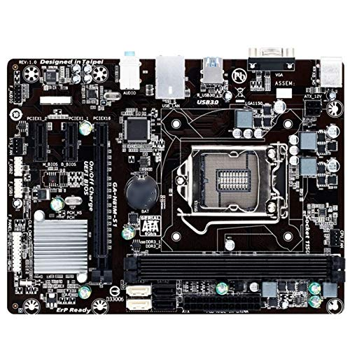 ALBBMY Ajuste para Gigabyte GA-H81M-S1 placa base compatible con LGA 1150 DDR3 16 GB USB3.0 I3 I5 I7 H81M-S1 H81used Desktop Motherboard PC Gaming Motherboard