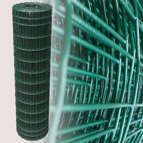 25 M de malla de alambre valla verja de alambre cerca verde altura de 120 cm de malla de 5 x 10 cm