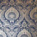 Papel Pintado Damasco Azul