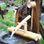 Fuentes de Bambu Japonesas