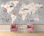 Papel Pintado Mapamundi Ikea